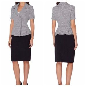 Tahari Asl Women's Peplum Jacket & Skirt Suit Set